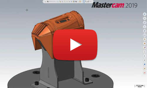 What's New in Mastercam 2019 - Material Rendering Mode